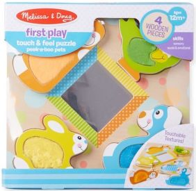 PEEK-A-BOO PETS TOUCH & FEEL PUZZLE