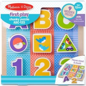 ABC-123 CHUNKY PUZZLE-FIRST PLAY