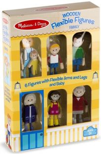 FAMILY-WOODEN FLEXIBLE FIGURES
