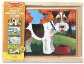 PETS-WOODEN PUZZLES IN A BOX
