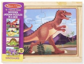 DINOSAURS-WOODEN PUZZLES IN A