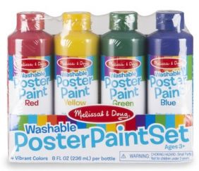 WASHABLE POSTER PAINT SET (4 COLORS)