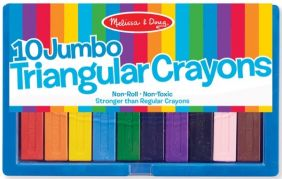 JUMBO TRIANGULAR CRAYONS 10-PACK