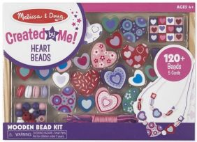 SWEET HEARTS WOODEN BEAD SET #