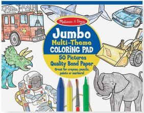 JUMBO MULTI-THEME COLORING PAD - BLUE