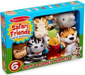 SAFARI FRIENDS HAND PUPPET SET