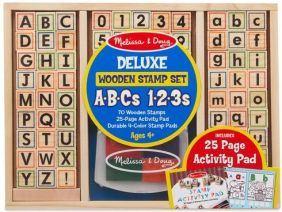 DELUXE WOODEN ABC & 123 STAMP