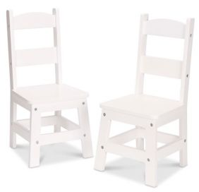 WOODEN CHAIR PAIR-WHITE
