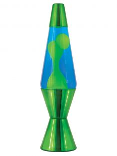 "14.5"" LAVA LAMP MTL GREEN #215"