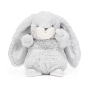 TINY NIBBLE BUNNY-GRAY PLUSH
