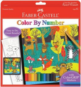 FOREST FRIENDS COLOR BY NUMBER