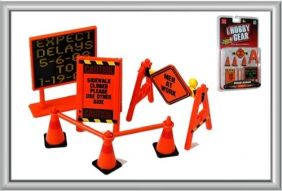 (SALE) 1/24 ROAD SIGNS ACCESSORY SET