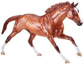 CALIFORNIA CHROME MODEL HORSE