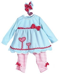 "BLOOMING HEARTS 20"" TODDLER TIME OUTFIT"