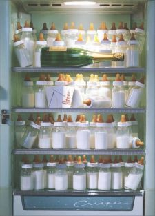 BABY BOTTLE FRIDGE NEW BABY CARD #200574 BY AVANTI