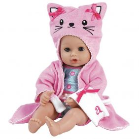 PINK KITTY BATHTIME BABY 13""