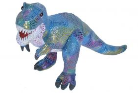 GLITTER DINO T-REX WITH TEETH