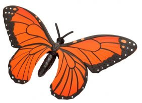 RUBBER MONARCH BUTTERFLY