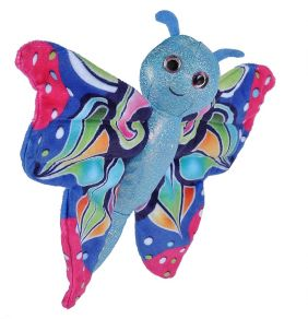 BLUE BUTTERFLY HUGGERS 8""