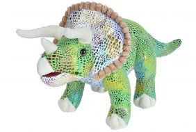 """GLITTER TRICERATOPS-LARGE 18"""""""