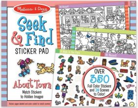 SEEK & FIND AROUND TOWN STICKER PAD