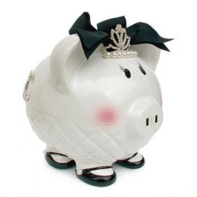 "QUEEN ""B"" PIGGY BANK #3619 BY"