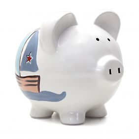 LARGE NAUTICAL PIGGY BANK #368