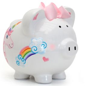 UNICORNS & RAINBOWS PIGGY BANK