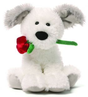 "DEMARCO DOG WITH ROSE 5"" PLUSH"