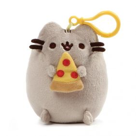 "PUSHEEN PIZZA 5"" BACKPACK CLIP"