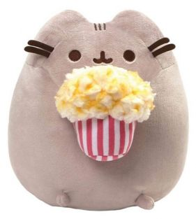 PUSHEEN WITH POPCORN 9.5""