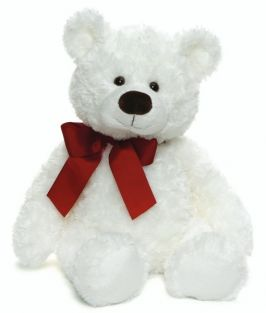 "HART WHITE BEAR 18"" PLUSH WITH"