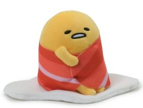 "BACON WRAP GUDETAMA 4"" PLUSH E"