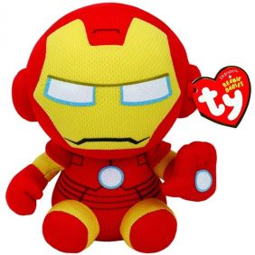"IRON MAN-BEANIE BABIES 6"" PLUSH"