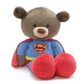 FUZZY SUPERMAN JUMBO BEAR #605