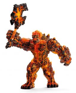 LAVA GOLEM WITH WEAPON FIGURE