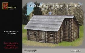 1/72 RUSSIAN 2-STRY LOG HOUSE