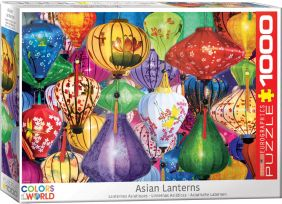 ASIAN LANTERNS 1000-PIECE PUZZ
