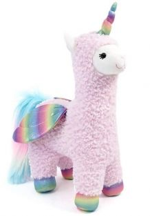 """SPARKLES LLAMACORN WITH WINGS 15.5"""""""