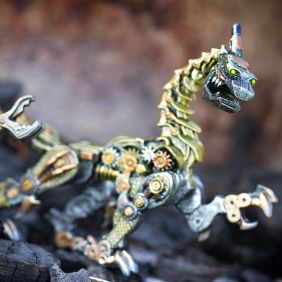 STEAMPUNK DRAGON FIGURE #10019