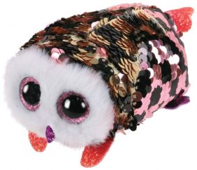 CHECKS SEQUIN OWL TEENY TY PLU