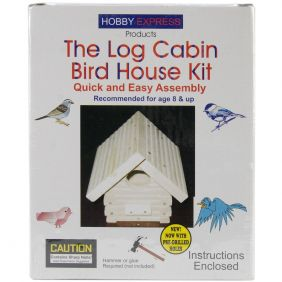 LOG CABIN BIRD HOUSE KIT