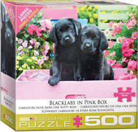 BLACK LABS IN PINK BOX 500PC P