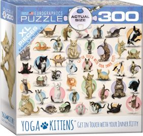 YOGA KITTENS 300-PC FAMILY PUZZLE