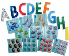 THE RAINBOW FISH BATH LETTERS