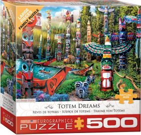 TOTEM DREAMS 500-PC FAMILY PUZZLE