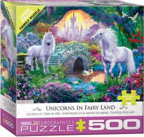UNICORNS IN FAIRY LAND 500-PIE