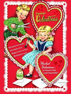 VINTAGE VALENTINES PRESS-OUT B