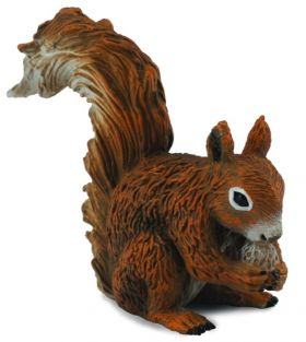 RED SQUIRREL EATING FIGURE