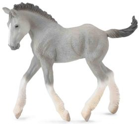 GREY SHIRE FOAL FIGURE